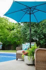 diy mobile umbrella stand planter