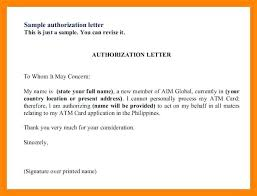 Authorization Letter Authorization Letter Sample To Process