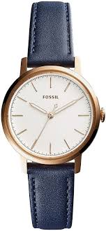 women s fossil neely blue leather band watch es4338 loading zoom