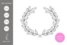 Floral mega bundle svg wreath svg laurel svg heart svg laurel wreath svg round circle monogram frame leaves leaf floral heart arrow silhouette. Foil Quill Sketch Laurel Wreath Svg File 230421 Single Line Designs Design Bundles