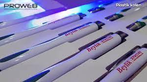 Binlerce promosyon kalem üzerine baskı - YouTube