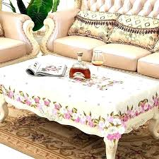 coffee table cloth covers tablecloth fabric plaid dining home decoration