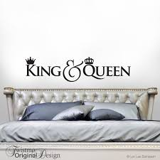 king and queen crown decor bedroom decor wall decal gift for