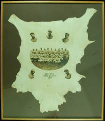 1915 boston red sox world champions leather display