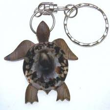 details about hawaiian souvenir natural wood key chain turtle 19073 qty 2