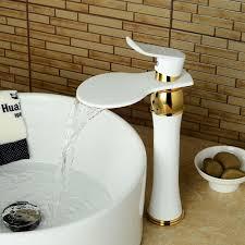 f 0721w contemporary brass white spray paint single handle one hole with ceramic valve bathroom sink faucet