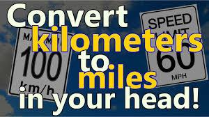 Kilometers To Miles Conversion Chart Pdf How To Convert Kilometers To Miles In Your Head