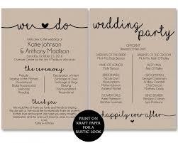 Ceremony Template Ceremony Program Template Printable Wedding Programs