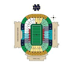 Football Seating Chart Notre Dame Fighting Irish