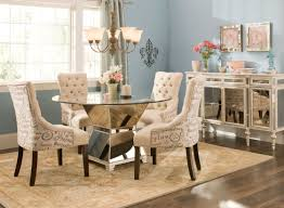 cool remodeling kitchen table sets with glittering chrome pedestal legs