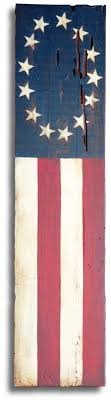 old american flag painting inspired by the b ross flag acrylic painted on reclaimed barn wood