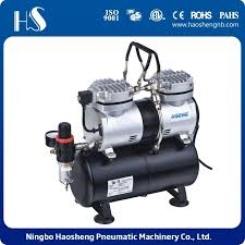 china as196 twin cylinders airbrush compressor with tank for model painting and hobby china portable mini airbrush compressor mini air compressor