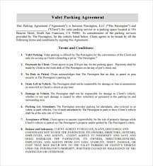 Parking Agreement Template. Parking Space Rental Agreement Lease ...