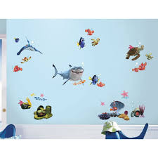 Bathroom Fish Decor Disney Finding Nemo Wall Decals 44 Kids Bathroom Stickers Fish