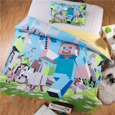 2016 new 3d bedding set minecraft kids bed set twin full queen size duvet cover pillow sham game character twin bedding set full size comforter set