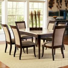 Marble Top Kitchen Table Set Steve Silver Marseille 7 Piece Rectangular Marble Table And