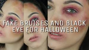 easy how to sfx fake black eye and bruises for ninja fairy you