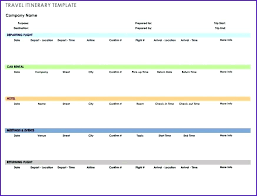 Travel Plan Template Excel Best Travel Itinerary Template Best Business Travel Itinerary