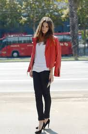 stunning red leather jacket with outfits style ideas 1