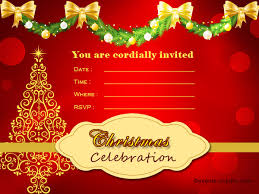 Christmas Invitation Card Christmas Invitation Cards Festival Around The World