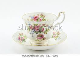 Decorative Cups And Saucers Empty Antique Cup Saucer Rose Decoration Stock Photo 60 21