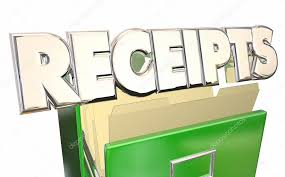 Word Receipts Receipts 3d Word Stock Photo Iqoncept 110558164