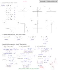 fascinating exponential growth equations worksheet jennarocca solving graphically 6 exponents and exponential functions quiz for matt