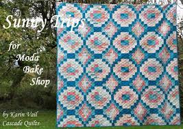 272 best Moda Free Patterns images on Pinterest | Crafts, Cushions ... & Sunny Trips Quilt by Karin Vail of Cascade Quilts. Moda Bake Shop free  pattern. Adamdwight.com