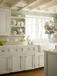cottage kitchen design. Shabby Chic White Country Cottage Kitchen. LOVE The Rustic Ceiling And Old Farmhouse Charm. See ALL Kitchen Pictures Here: Design H