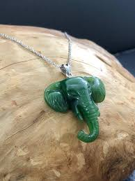 canadian nephrite jade elephant carving jade necklace green jade