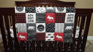 adventure moose baby boy crib bedding moose and bears black arrows little mountains and black adventure nursery set