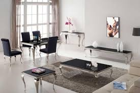 vida living louis black glass top small coffee table