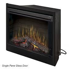 dimplex 45 inch single pane glass door firebox not included glass45blk