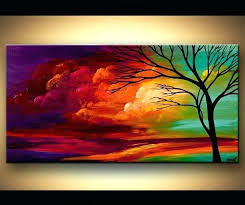 easy acrylic painting landscape easy acrylic painting on canvas star gazing silhouette acrylic canvas painting painting