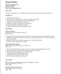 Financial Advisor Resume Template Simple Brilliant Ideas Of Financial Planner Resume Skills Amazing Financial