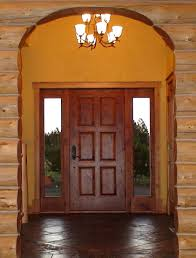 exterior front doors with sidelightsBlack Solid wood front door with sidelights