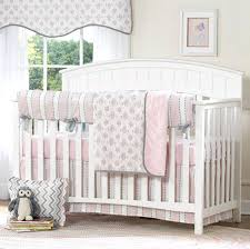 pink nursery bedding sets pink and gray baby bedding this pretty bedding set from the collection