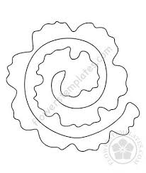 Pattern For Paper Flower Rolled Flowers Flowers Templates