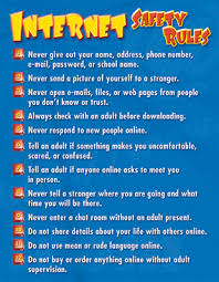 Chart Internet Safety Rules