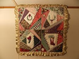 The Beaded Needle: Crazy Quilted Christmas Wall Hanging & ... to do another Christmas themed crazy quilt as my skills have improved  slightly since the construction of this one. First photo, the whole wall  hanging; Adamdwight.com