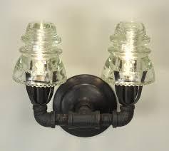 glass insulator sconse from conant metal light