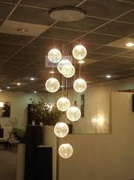 ball chandelier light modern minimalist chandelier glass chandelier stair light aluminum ball round glass ball large