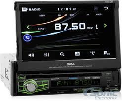 boss bv9976b bluetooth single din car stereo w 7 lcd zoom