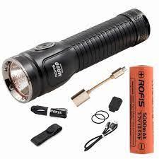 Rofis MR50 USB có thể sạc lại Đèn Pin CREE XHP50.2 CW LED max 2500 lumen  tactical torch với 21700 5000 mah li ion pin Flashlights & Torches