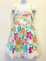 Details About Bonnie Jean Girls Floral Print Lace Trim Easter Spring Summer Dress 4 5 6 6x