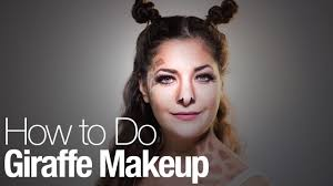 how to do your own giraffe makeup for