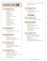 grocery checklist trader joes meal plan ideas printable shopping list lynzy co