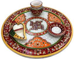 Pooja Ki Thali Design V P Enterprises Pooja Ki Thali Vp35 Decorative Showpiece 7