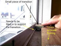 laminate transitions at sliding doors