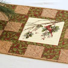 Best Handmade Quilt Table Runners Products on Wanelo & Cardinal Table Runner, Quilted Christmas Table Runner, Holly and Pines, Table  Quilt, Adamdwight.com